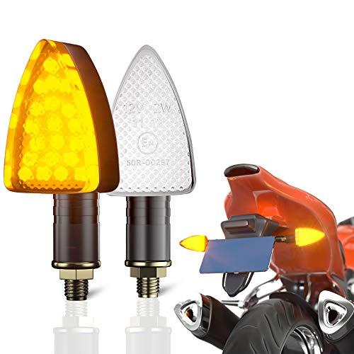 CCAUTOVIE paar Motorrad LED Blinker Licht Bernstein Mini LED Blinker für Motorrad e geprüft Universal