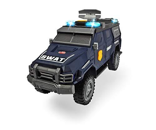 Dickie Toys Spezial Einheit, SWAT Truck, Spielzeugauto mit Motorisierung, drehendes Radar, Heck- und Seitentür zum Öffnen, Licht & Sound, inkl. Batterien, 36 cm, ab 3 Jahren
