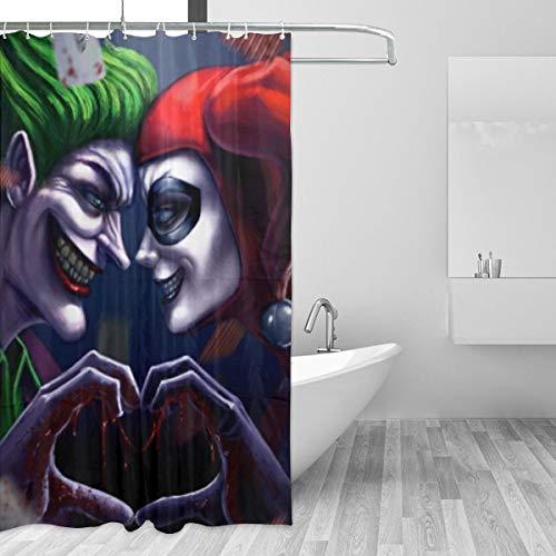 413JCk8pn4L Harley Quinn Shower Curtains