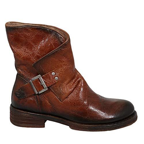 Felmini - Damen Schuhe - Verlieben Cooper A764 - Cowboy & Biker Stiefel - Echtes Leder - Braun - 38 EU Size
