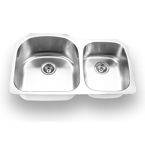 Yosemite Home Decor MAG3320 18-Gauge Stainless Steel Undermount Double Bowl Kitchen Sink