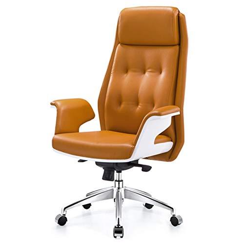 BIAOYU Silla de oficina ergonómica de respaldo alto, silla giratoria para estudio, silla de oficina, silla de trabajo en el hogar con polea de apoyabrazos (color caqui)