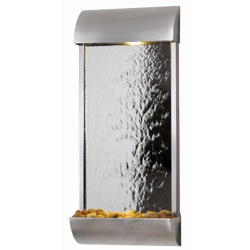 Kenroy Home 50052STST Waterville Wall Fountain, Stainless Steel Finish with Mirrored Face