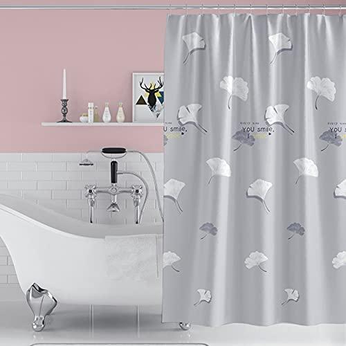 Qucover Tenda da doccia in tessuto impermeabile e a prova di muffa, 180x180cm, con 12 ganci e orlo...
