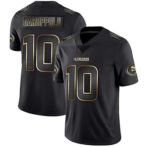 LQsy NFL T-Shirt 49ers Jersey 10# GAROPPOLO Sport Top Jersey Rugby Unterstützer Black Gold Edition Sportswear Kurzarm
