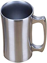 Insulated Cup, OrgMemory Stainless Steel Coffee Mug, 20 oz Coffee Mug, (560 ml), Double Wall Beer Stein, Tumbler with Handle, Insulated Beer Mug with Lid