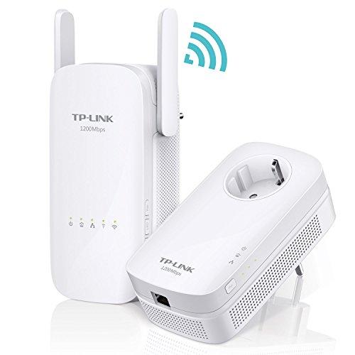 TP-Link TL-WPA8630 KIT AV1200 Powerline, Wi-Fi Dual Band AC1200 Wireless, 3 Porte Gigabit, 2x2 MIMO, HomePlug AV2, Pulsante Wi-Fi Clone, Tasto LED On Off
