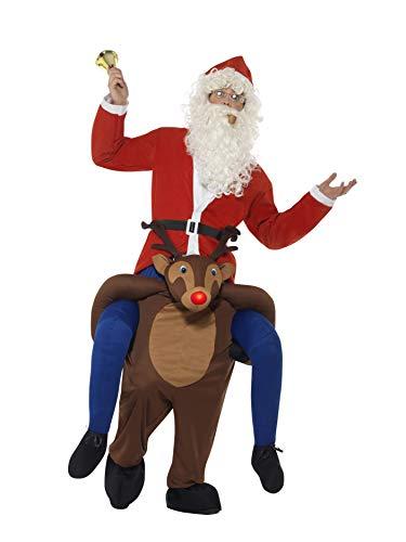 SMIFFYS CostumeCavalluccio Renna Rudolf,Marrone,Tuta Interacon finte Gambee Nasoa Le Smiffy's Piggyback, Colore, Taglia Unica, 49669