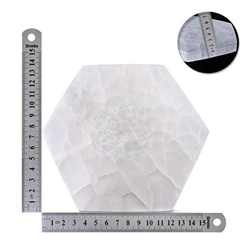 1Pcs Selenite Plate Healing Crystal Grid Board Natural Stone Energy Stone Home Decor Selenites Quartz Crystals Reiki Energy,M