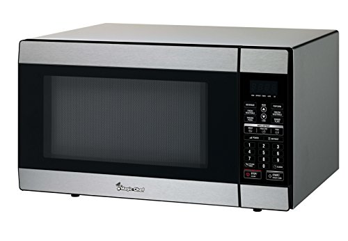 Magic Chef 1.8 Cu. Ft. 1100W Countertop Microwave Oven in Stainless Steel, Silver