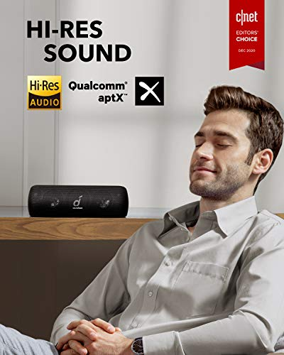 Soundcore Motion+ Altavoz Bluetooth, 30 W, Alta resolución, BassUp, Graves y Agudos ampliados, Altavoz portátil HI-FI inalámbrico, 12 Horas de reproducción, IPX7 Impermeable y USB-C