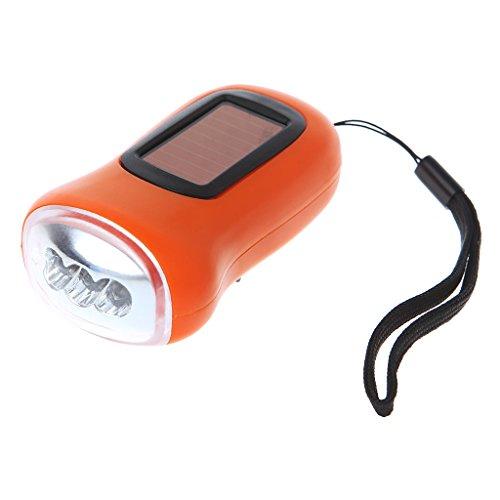 shanghaisty (1) Solar 3LED Handkurbel Wiederaufladbare Taschenlampe Für Outdoor Camping/Erkundung/Wandern