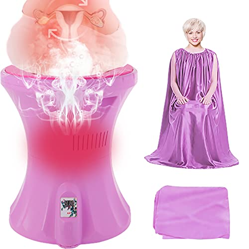 Yoni Steam Seat, Vaginial Steaming Seat with Steam Gown Protable Vaginal Spa Kit for V Cleansing, Ph Balance Support, Menstrual Support, Feminine Odor, Postpartum Care and More.