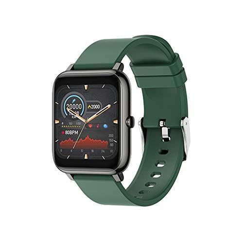 YNLRY Smart Watch Waterproof Fitness Sport Watch P22 Rastro del Corazón Rastreador Call/Message Recordatorio Bluetooth Smartwatch para Android iOS (Color : P22 Green Touchable)