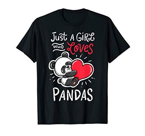Panda Giant Heart T-Shirt