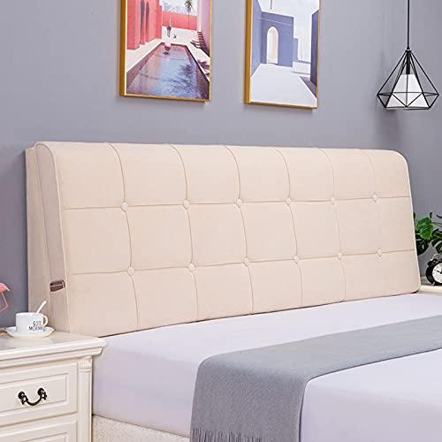 Cuscino per lettura sul comodino Cuscino per schienale Cuscino per cuneo in memory foam Cuscino lombare Cuscino per divano da letto dell'hotel Cuscino decorativo (con testiera),J1,78.7 ×22.8×3.9 in