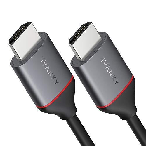 Cavo HDMI 4K UHD2M 6.5ft, iVANKY Cavo HDMI 2.0, Compatibile con HDCP2.2 1.4, 4K@60HZ, Ultra HD, 3D, Full HD 1080p, HDR, Arc, Dolby Audio Alta velocità con Ethernet, PS3 PS4 Xbox HDTV PC