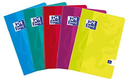 Oxford 400074877Touch grapadora de 60hojas A5, líneas, paquete de 5unidades Sobres Colores Mix