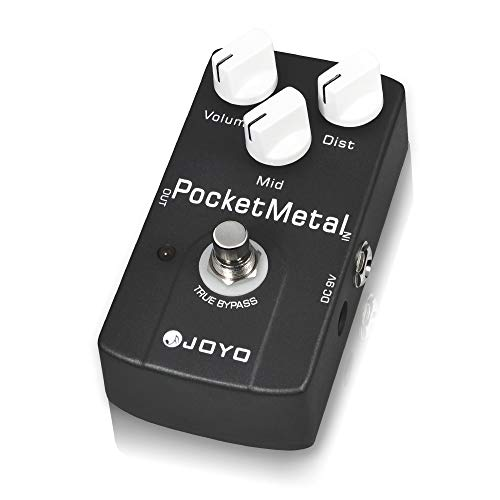 JOYO Pocket Metal Pedal Get Huge Metal Distortion Sounds with Mid Knob for Electric Guitar Effect True Bypass (JF-35)