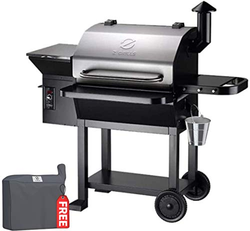 Z GRILLS 2020 Upgrate Wood Pellets Grill 1000 SQIN 20LB Hopper 8-in-1 Outdoor Smoker Grill (ZPG-10002E)