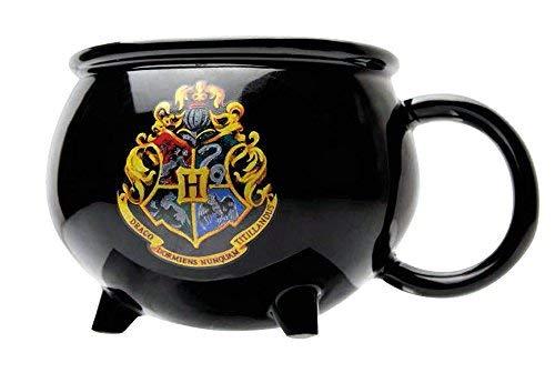 Harry Potter Tasse 3D Hexenkessel mit Hogwarts Logo, aus Keramik ca. 8,5x15 cm groß