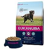 Eukanuba - Croquettes Premium Chiens Adultes Grandes Races - 100% Complète et Equilibrée - Riche en Poulet Frais - Sans Protéines Végétales Cachées, OGM, Conservateurs ou Arôme Artificiel - 3kg