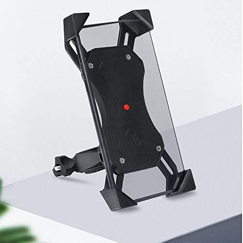 Support Telephone Moto,Stand De Téléphone Mobile De Vélo De Montagne La Batterie Électrique De Voiture De Navigation De Voiture De Sauvetage De Voiture De Soutien De Vélo De Choc-Preuve Stand Noir