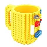 Coppa Creativa Build-On Tipo Mattone Tazza di caffè del tè Latte Acqua Potabile Holder Water for Building Blocks Coppa Bambino Regalo 350ML (Color : Yellow)