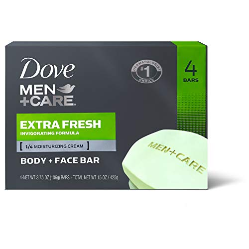 Dove Men + Care Body And Face Bar Extra Fresh 4 Ounce 4 Count by Dove
