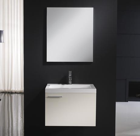 Badkamermeubel, wastafel en spiegel model Barcelona 80, zonder montage