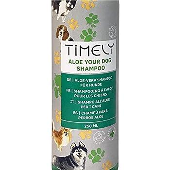 Timely - Shampooing pour chien à l'aloe vera délicat pour un pelage doux, 250ml