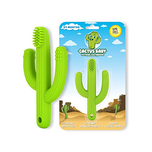 Cactus Baby Teething Toys Toothbrush | Self-Soothing Pain Relief Soft Silicone...
