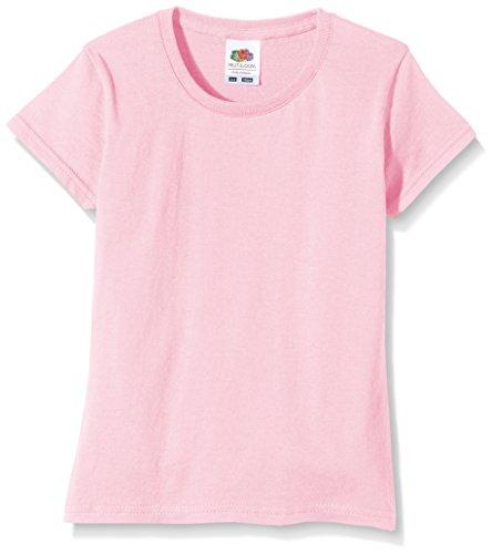 Fruit of the Loom Mädchen Sofspun T-Shirt, Hellrosa, 5-6 Jahre