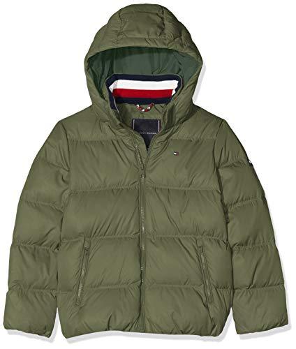 Tommy Hilfiger Jungen Essentials DOWN Jacket Jacke, Grün (Green Llp), 152 (Herstellergröße:12)