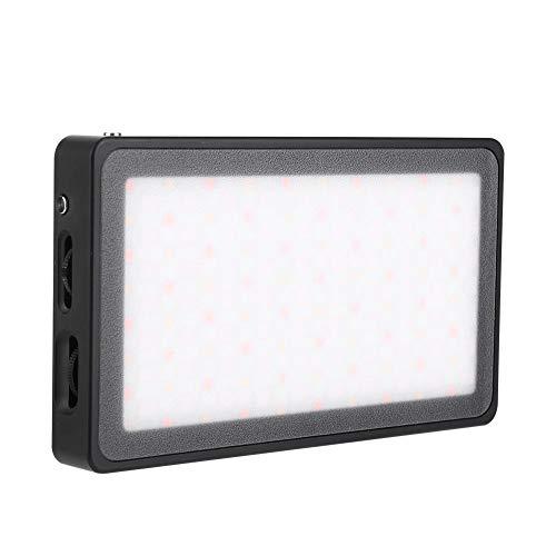 Luci video a LED RGB, Mini luce tascabile con illuminazione sulla fotocamera, Fotografia 2500-8500k RA≥96 9 Effetti di luce Pannello luminoso per vide