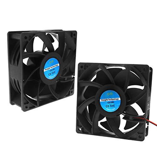 2x Ventilador Ventilador de 2pines Rodamientos 12V 0.6A 120x 120x 38mm para PC, el sudor dispositivo, Inverter, motor con CE