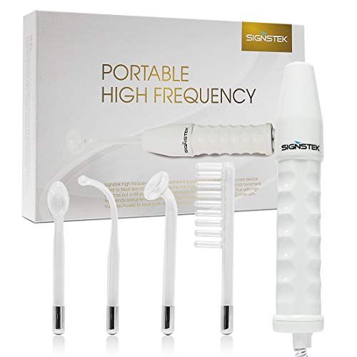 Signstek High Frequency Skin Therapy Machine for Acne Treatment, Skin Tightening and Wrinkle Reducing