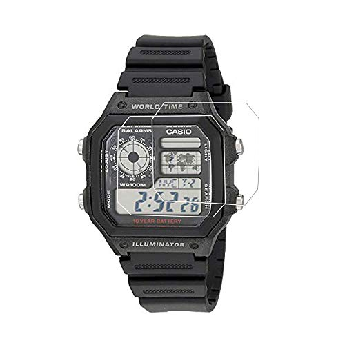 Zshion Bildschirmschutzfolie für Casio AE-1200/AE-1300, explosionssicher, HD klar, ultradünn, kratzfest, Bildschirmschutzfolie für Casio AE-1200/AE-1300 (3 Stück)
