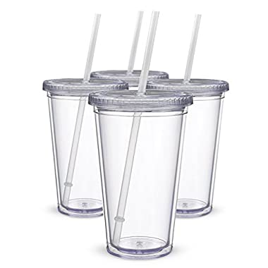 Maars Classic Insulated Tumblers 16 oz.   Double Wall Acrylic   4 pack