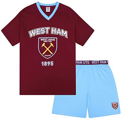 West Ham United FC Official Football Gift Boys Short Pyjamas Claret 10-11 Years