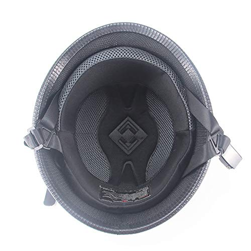 GuoYq Halber Helm, Jethelm, Retro-Stahlhelm, halber Reithelm, halb überdachter Motorradhelm, Sicherheit für den Cruiser-Helm.