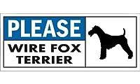 PLEASE WIRE FOX TERRIER ワイドマグネットサイン:ワイヤーフォックステリア Mサイズ