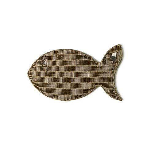 Riviera Maison - Fisch Untersetzer - Catch of The Day - Peddigrohr - L50 x H0,7 x B30 cm