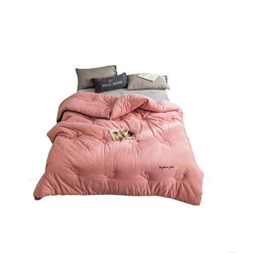 C-J-Xin edredón, de Doble Cara Color sólido Espesar Invierno edredón Gran Dormitorio edredón Tamaño: 200 * 230cm-7 kg, 220 * 240CM-8KG edredones Familia