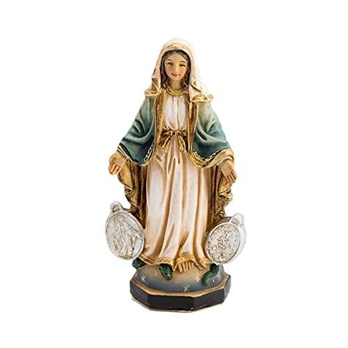Virgen LA MILAGROSA con MEDALLAS (8_cm)