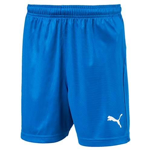 PUMA Kinder LIGA Core Shorts, Electric Blue Lemonade/White, 116