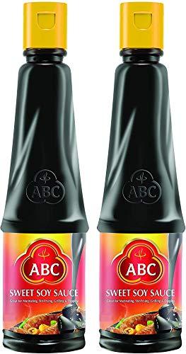 ABC Sweet Soy Sauce, Marinade Dip Stir BBQ, Black Dark Soy Vegan, Kecap Manis, 20.3 Fl. Oz 600 ml (Pack of 2)