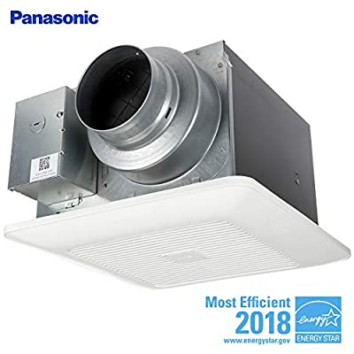 Panasonic FV-05-11VKS2 WhisperGreen Select Ventilation Fan, Customizable Bathroom Fan, Pick-A-Flow Speed Selector, Extremely Quiet, Long Lasting, Easy to Install, White