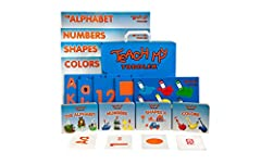 68 pieces to teach your toddler the alphabet, numbers, shapes and colors Kit includes 4 board books, 4 posters, 7 puzzles and 55 flashcards Promotes literacy, numeracy, spatial reasoning, hand-eye coordination and fine motor skills Step by Step Teach...
