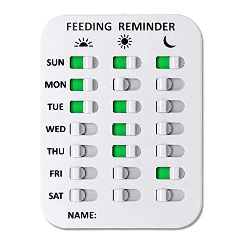 Recordatorio de alimentación de perros – Tabla de alimentación de animales mayores, pegatinas diarias, 3 veces al día, recordatorio para cachorros, niños y ancianos